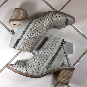 SAM EDELMAN Cooper Woven Leather Ankle Booties NEW